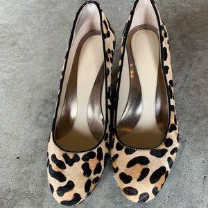 Calvin Klein animal print heels